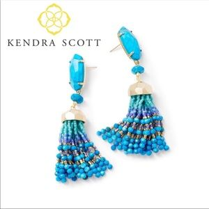 Kendra Scott Dove Gold Statement Earrings